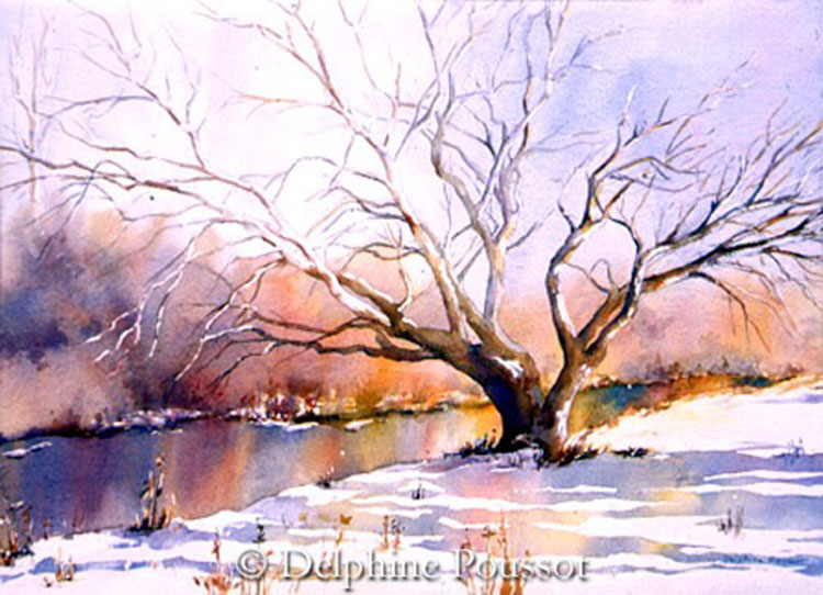 Delphine poussot official website of watercolor artist for Best art websites for artists